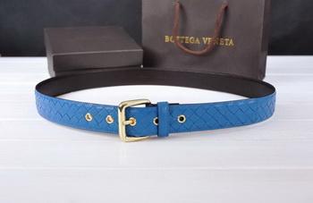 Bottega Veneta Intrecciato Nappa Belt 274483 Blue