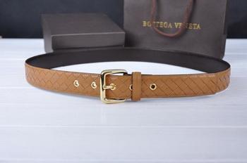 Bottega Veneta Intrecciato Nappa Belt 274483 Camel