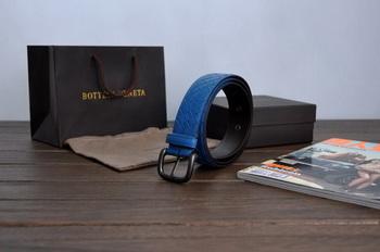 Bottega Veneta Intrecciato Nappa Belt 274484 BLue