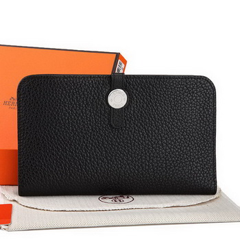 Hermes Dogon Combined Wallet A508 Black
