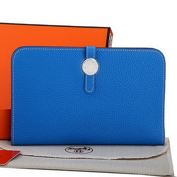 Hermes Dogon Combined Wallet A508 Blue