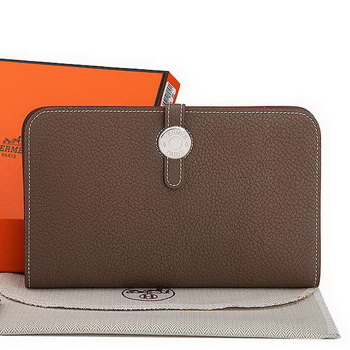 Hermes Dogon Combined Wallet A508 Brown