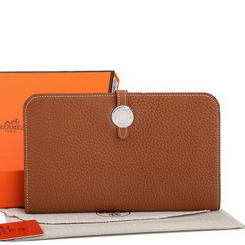 Hermes Dogon Combined Wallet A508 Camel