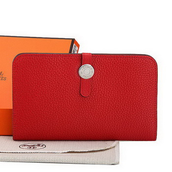 Hermes Dogon Combined Wallet A508 Red