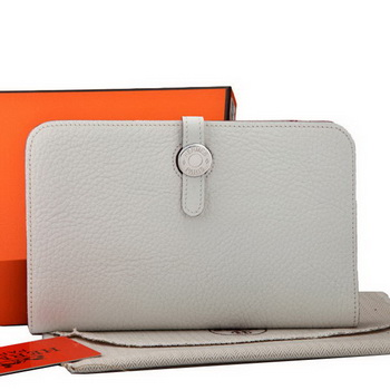 Hermes Dogon Combined Wallet A508 White