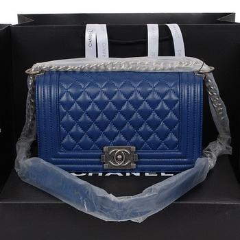 Boy Chanel Flap Shoulder Bag in Sheepskin Leather A58500 RoyalBlue
