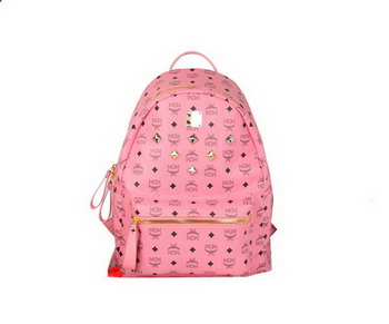 MCM Stark Backpack Jumbo in Calf Leather 8006 Pink