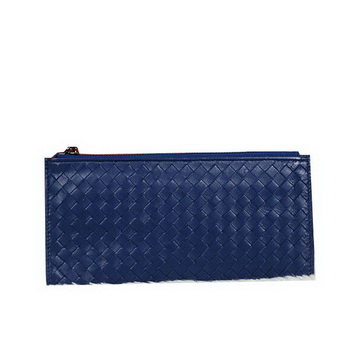 Bottega Veneta Intrecciato Nappa Zippy Wallet BV889 RoyalBlue