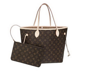 Louis Vuitton Monogram Canvas Neverfull MM M40995 Beige