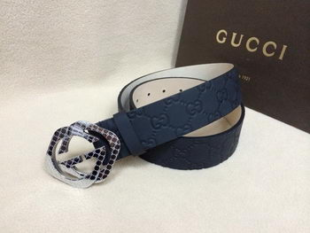 GUCCI Belt GI1390B Navy Blue