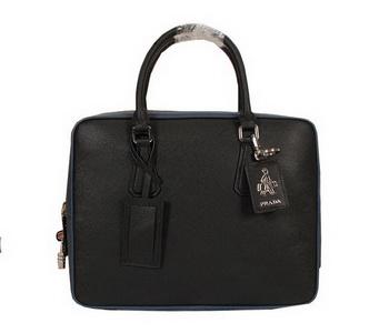 Prada Original Leather Briefcase 305M Black