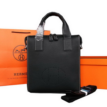 Hermes Original Calf Leather Tote Bag M86682 Black