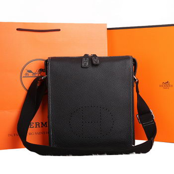 Hermes Original Calf Leather Messenger Bag M86681 Black