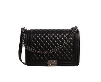 Chanel Boy Flap Shoulder Bag in Original Leather A67087 Black