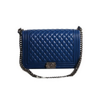 Chanel Boy Flap Shoulder Bag in Original Leather A67087 Blue