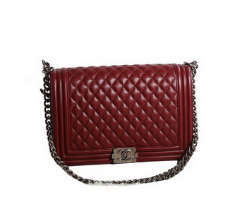 Chanel Boy Flap Shoulder Bag in Original Leather A67087 Wine