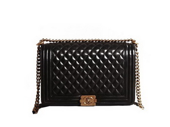 Chanel Boy Flap Shoulder Bag in Black Original Leather Gold