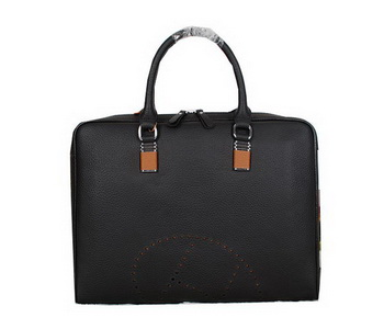Hermes Mens Briefcase Original Calf Leather H95271 Black