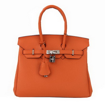 Hermes Birkin 25CM Tote Bags Orange Original Leather Gold