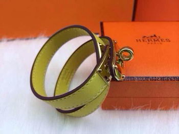 Hermes Genuine Leather Bracelet HM0013E