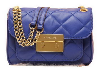 Michael Kors Original Leather Clutch Bag MK0819 Blue