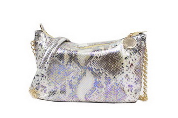 Stella McCartney Snake Leather Cross Body Bag 835 Beige