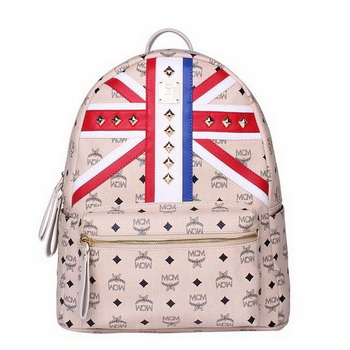 MCM Medium Flag of UK Backpack MC5173 Beige