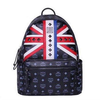MCM Medium Flag of UK Backpack MC5173 Black