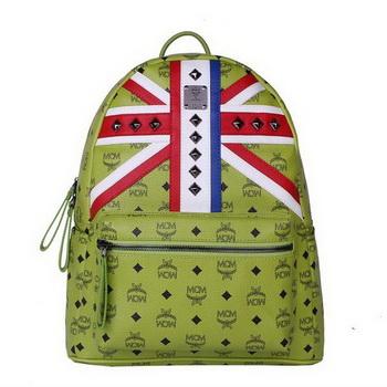 MCM Medium Flag of UK Backpack MC5173 Green