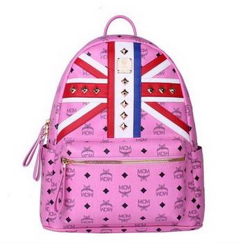 MCM Medium Flag of UK Backpack MC5173 Rosy