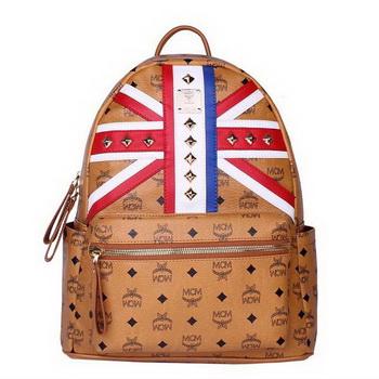 MCM Medium Flag of UK Backpack MC5173 Wheat