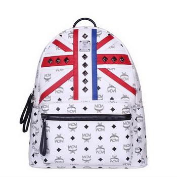 MCM Medium Flag of UK Backpack MC5173 White