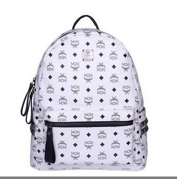 MCM Medium Stark Backpack MC2446 White