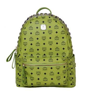 MCM Medium Top Studs Backpack MC4232 Green
