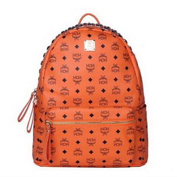 MCM Medium Top Studs Backpack MC4232 Orange