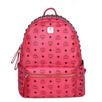 MCM Medium Top Studs Backpack MC4232 Red
