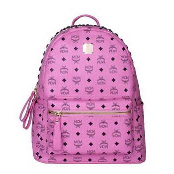 MCM Medium Top Studs Backpack MC4232 Rosy