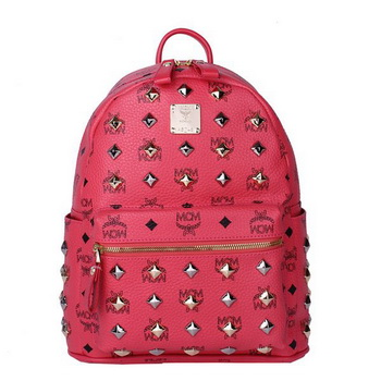 MCM Stark Studded Small Backpack MC2089S Light Red