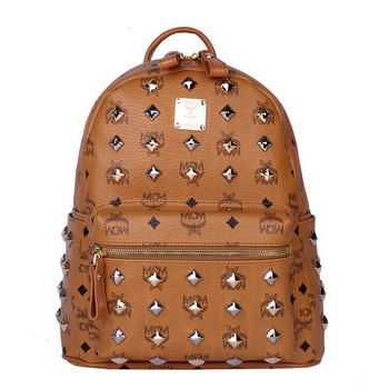 MCM Stark Studded Small Backpack MC2089S Wheat