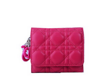 Dior Bi-Flod Wallet in Lambskin Leahter CD085 Rose