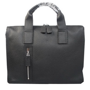 Hermes Briefcase Original Grainy Leather H8813 Black
