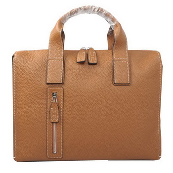 Hermes Briefcase Original Grainy Leather H8813 Wheat