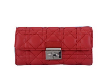 Dior Flap Wallet in Sheepskin Leahter CD9002 Red