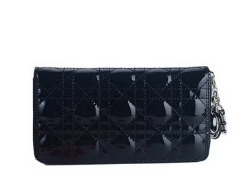 Lady Dior Escapade Wallet Patent Leahter CD189 Black