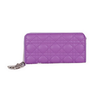 Lady Dior Escapade Wallet Sheepskin Leahter CD811 Purple