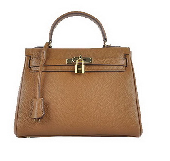 Hermes Kelly 28cm Shoulder Bags Wheat Grainy Leather Gold