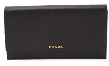 PRADA Saffiano Leather Bi-Fold Wallet 1M1311 Black
