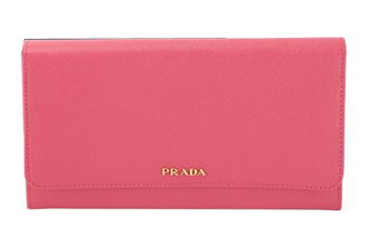 PRADA Saffiano Leather Bi-Fold Wallet 1M1311 Rose