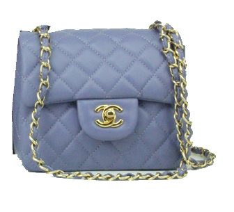 Chanel mini Classic Flap Bag Lavender Leather 1115 Gold Chain