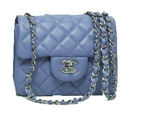 Chanel mini Classic Flap Bag Lavender Leather 1115 Silver Chain